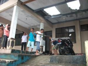 Kantor UPTD Dinas Pendidikan kecamatan Bantarujeg rusak