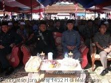 Pasangan Bupati/Wakil Bupati pada peringatan Isra Miraj 2432 H di Malausma