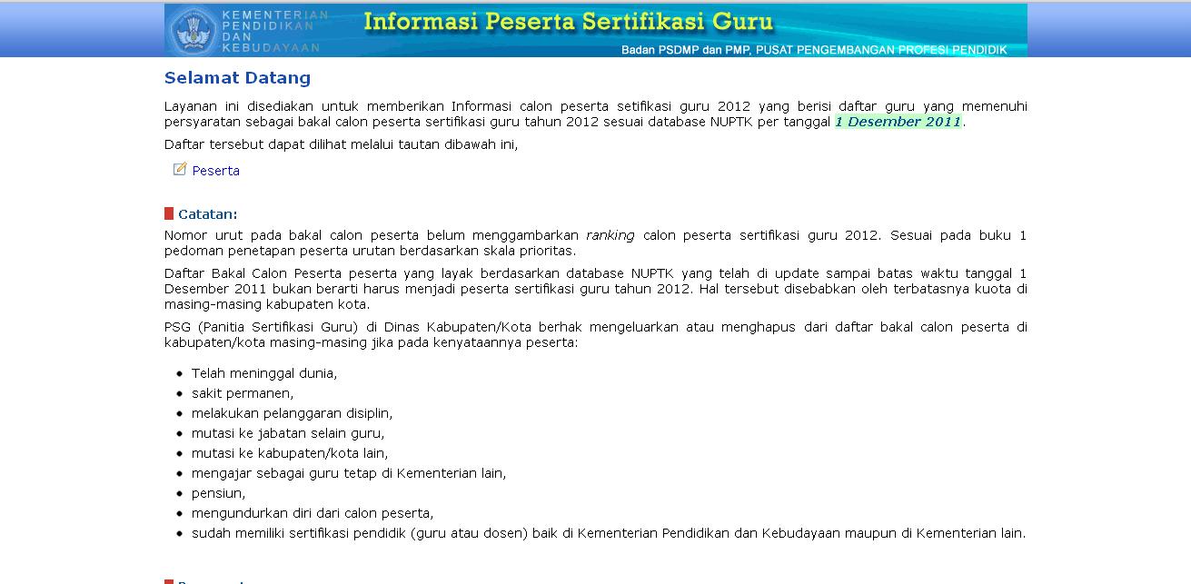 melalui tautan http://sergur.pusbangprodik.org/index.php?pg=listview
